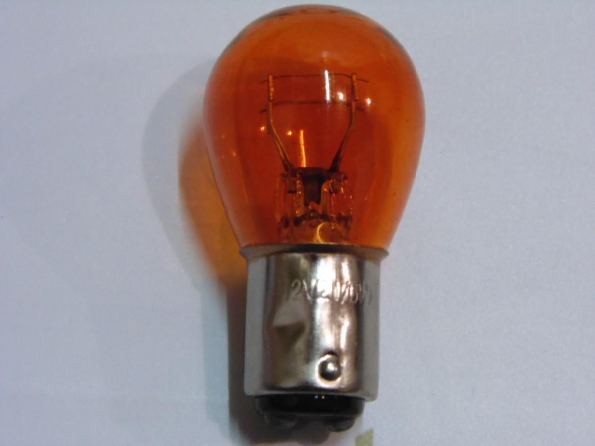 Лампа стопа (желтая) 12V 21/5 W цоколь 2 конт