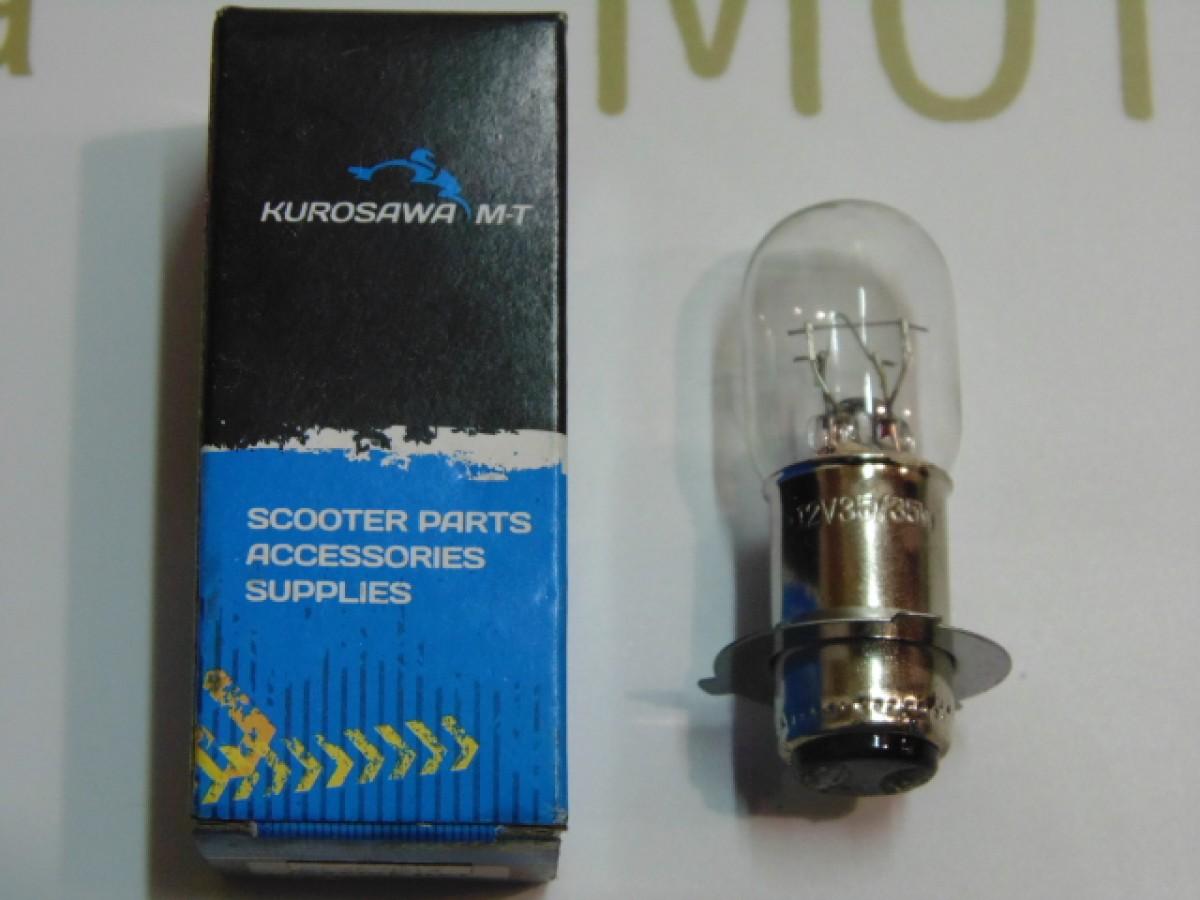 Лампа фары P15D-25-3С 12V 3-лепестка длинный цоколь